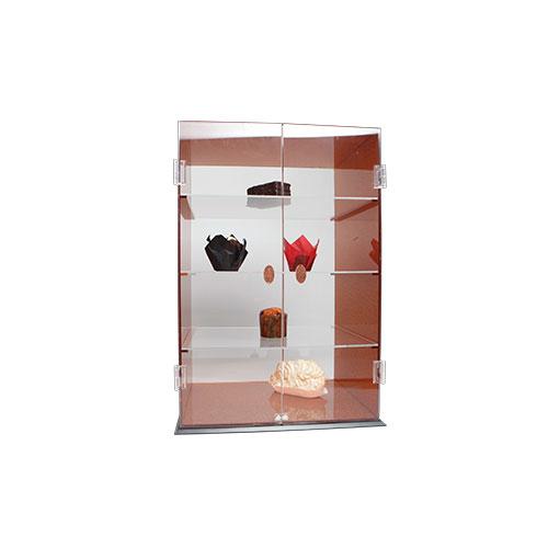 Armario expositor con puertas, 3 estantes