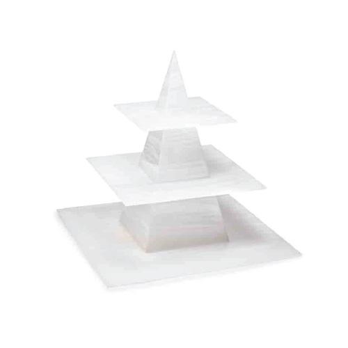 Expositor metacrilato artesano para eventos forma piramide
