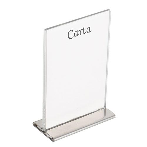 Portacartas transparente + base acero