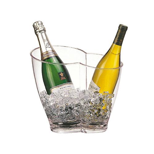 Cubitera para 2 botellas acrílica