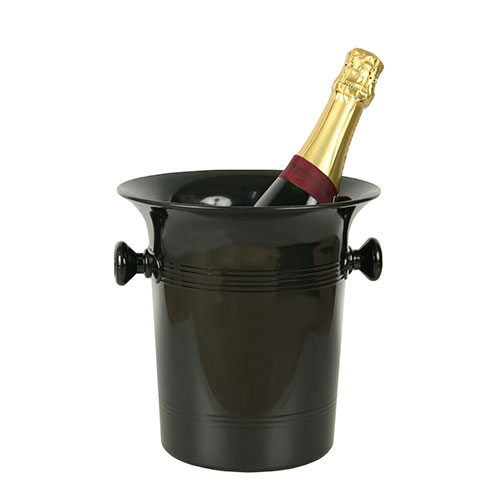 Black PS ice bucket with knobs